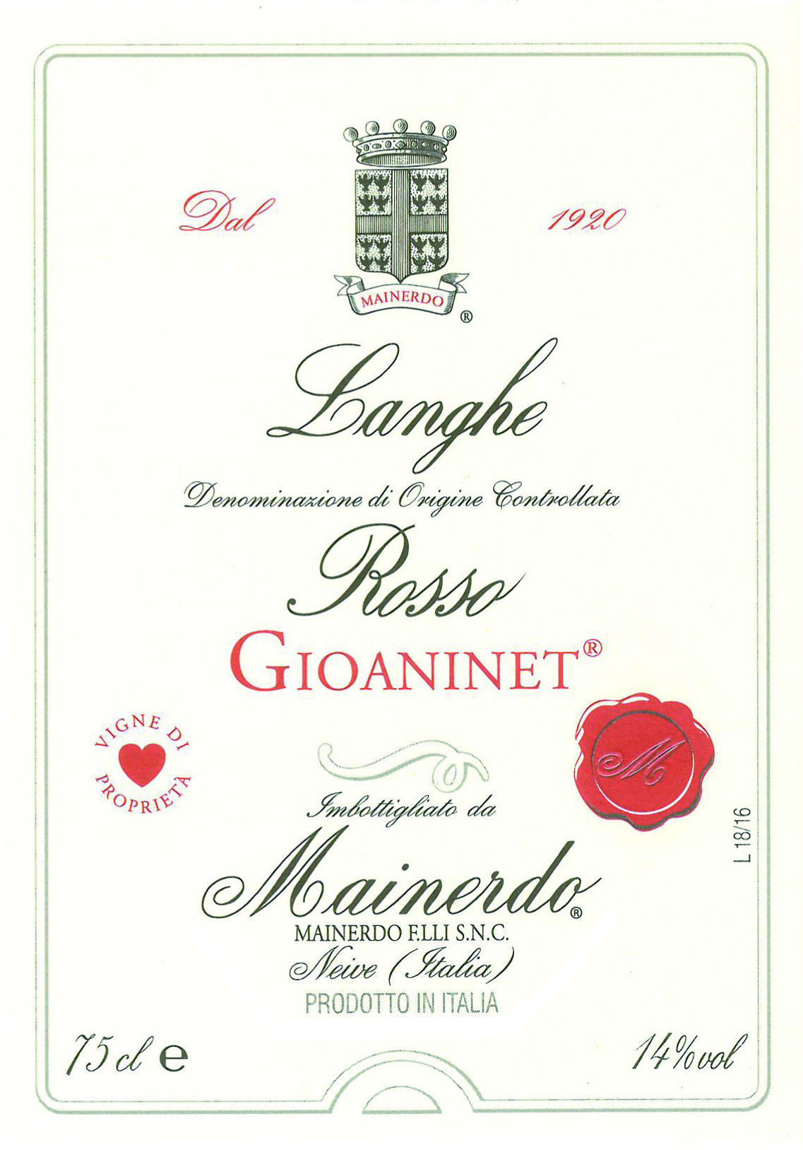 Langhe Rosso Gioaninet
