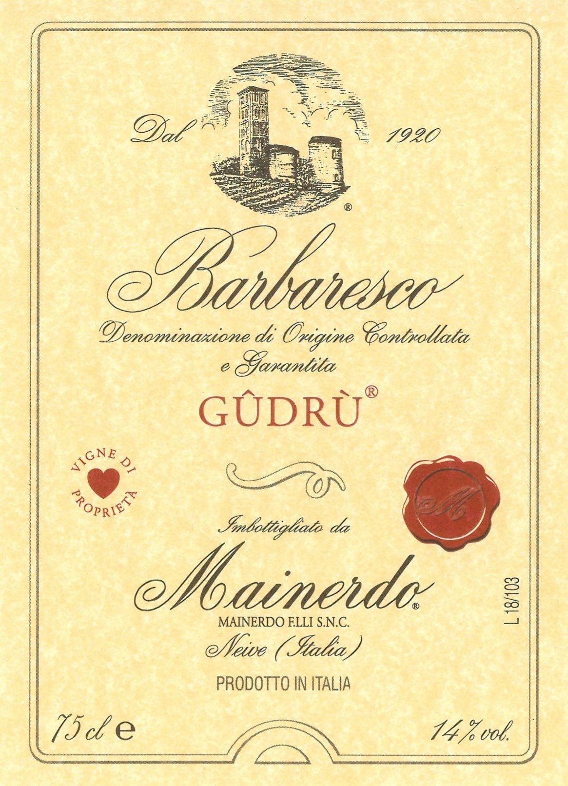 Barbaresco Gudrù – Cottà