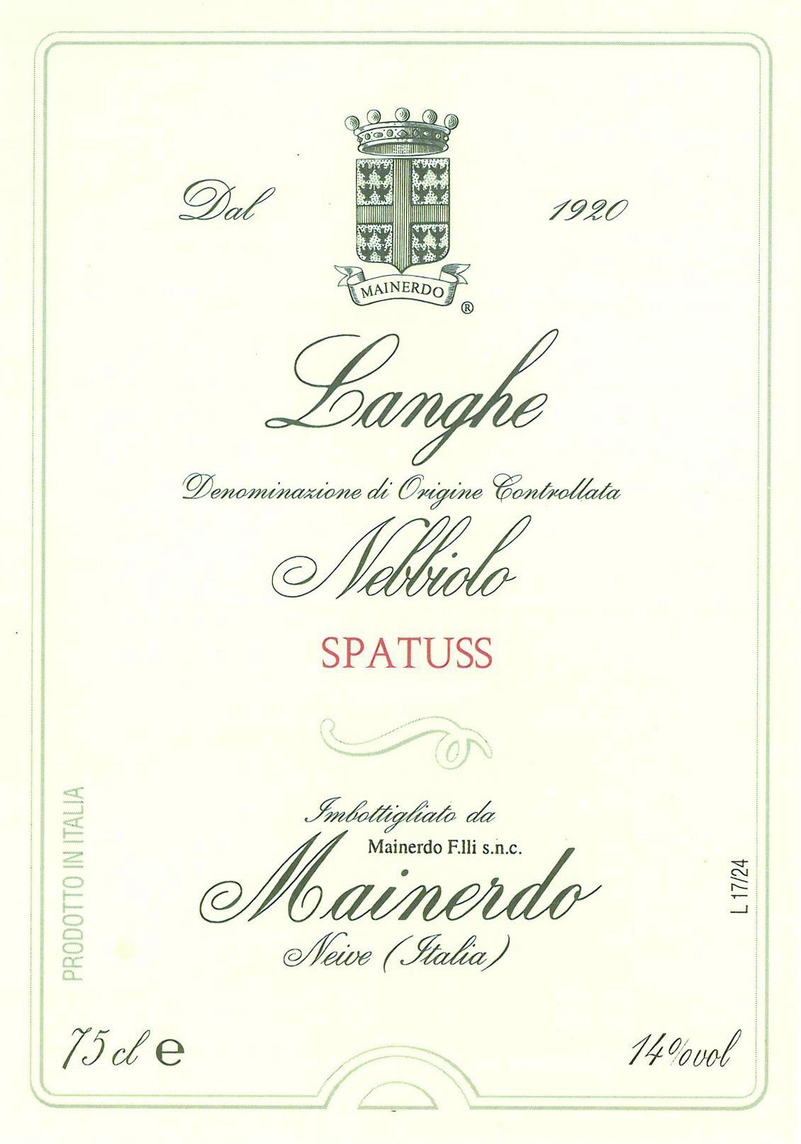 Langhe Nebbiolo Spatuss